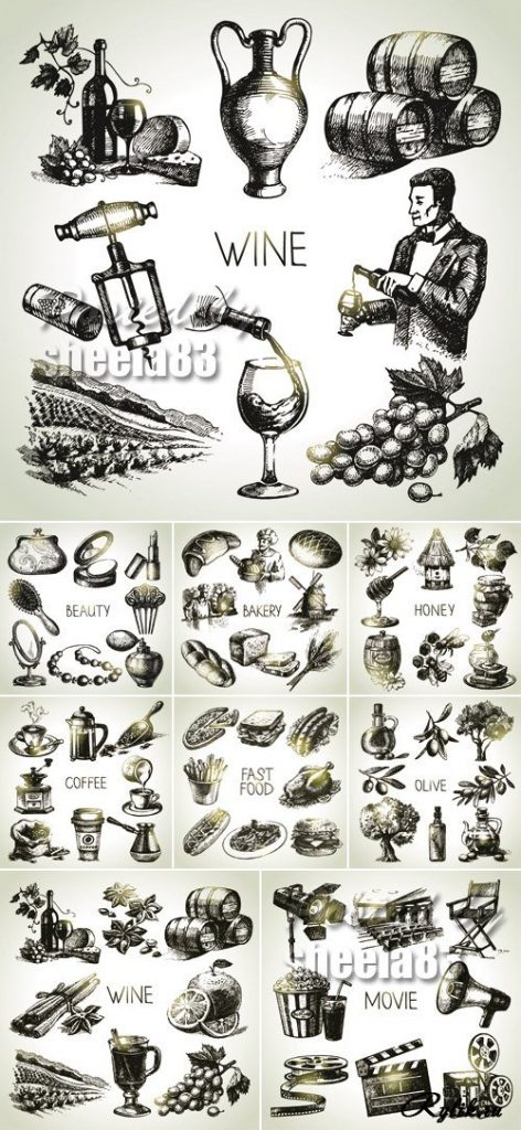 Топовые нарисованные картинки еда и напитки (34)