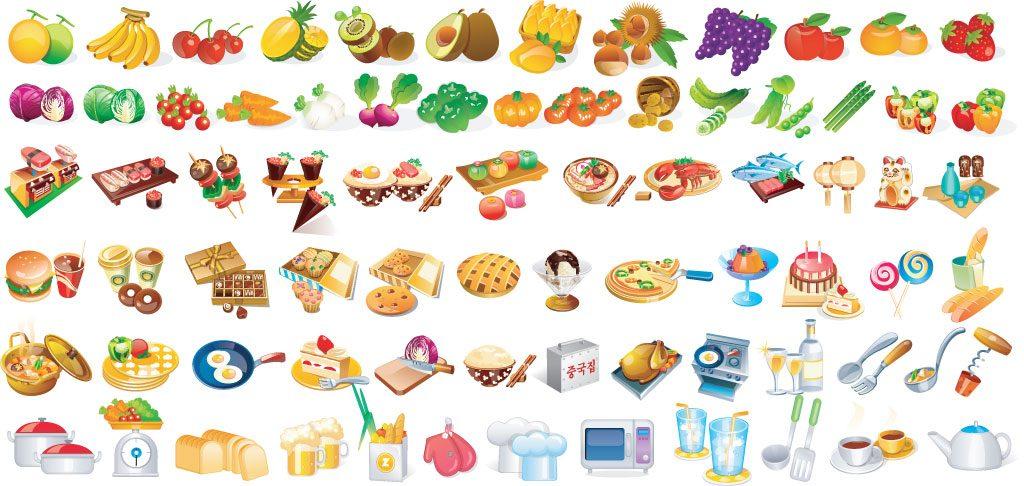 Топовые нарисованные картинки еда и напитки (36)