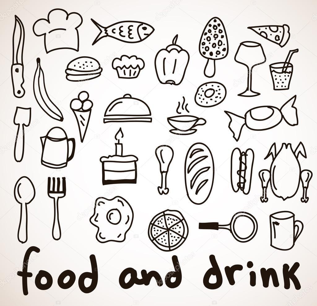 Топовые нарисованные картинки еда и напитки (37)