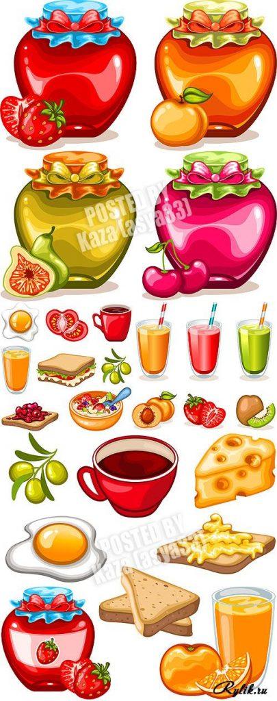 Топовые нарисованные картинки еда и напитки (38)