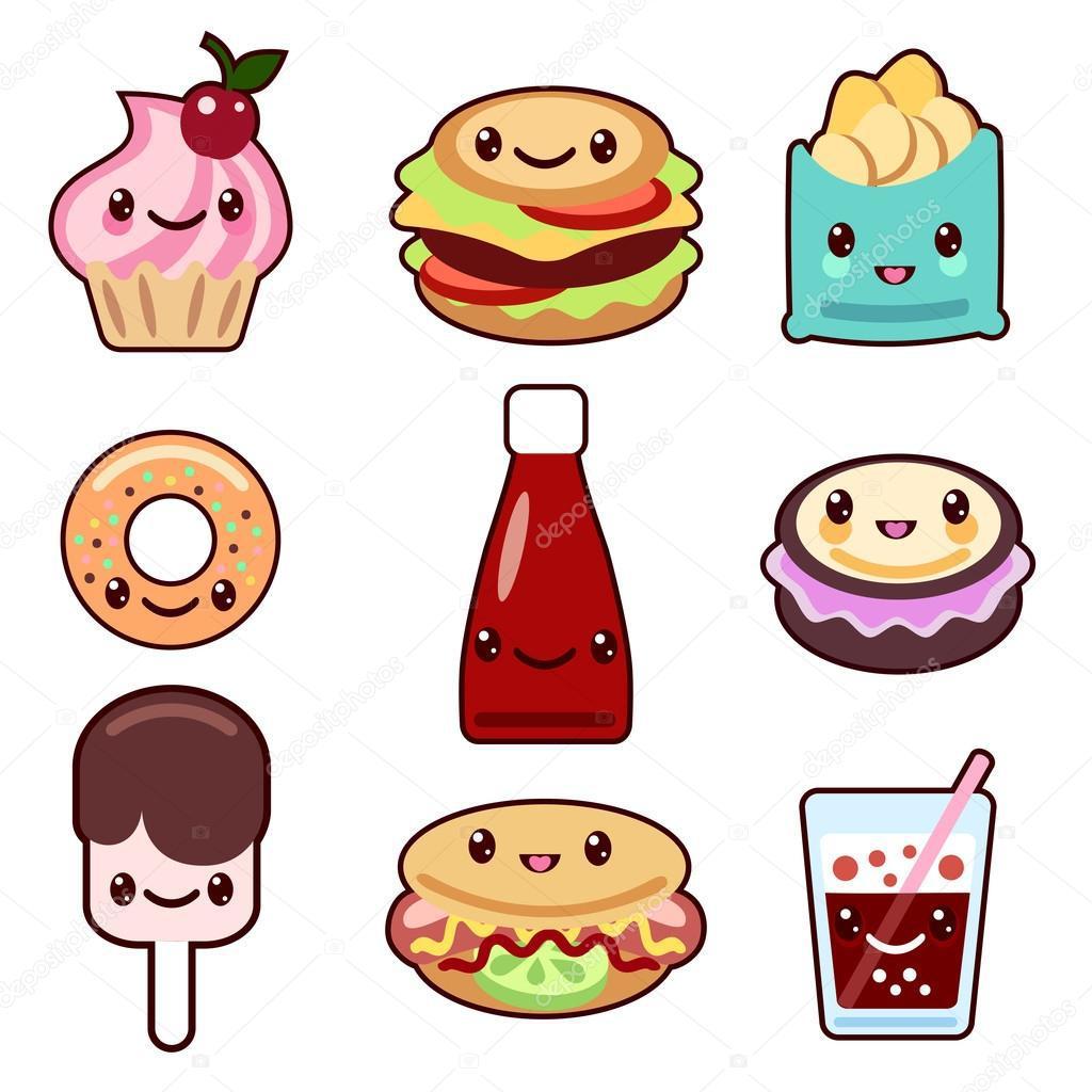 Топовые нарисованные картинки еда и напитки (39)