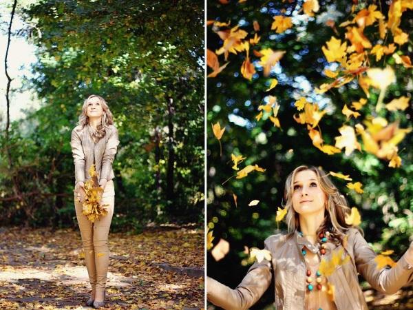 Топовые фото девушек с осенними листьями со спины (11)