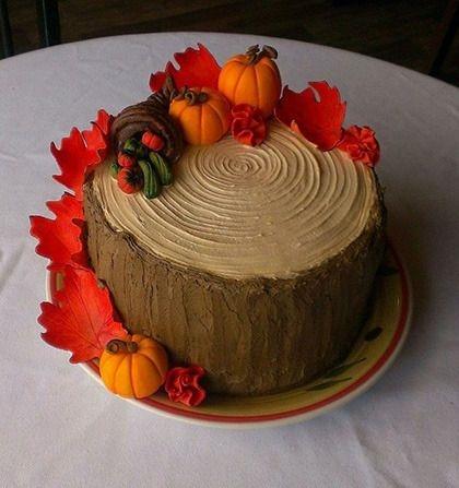 Торт своими руками осенний012