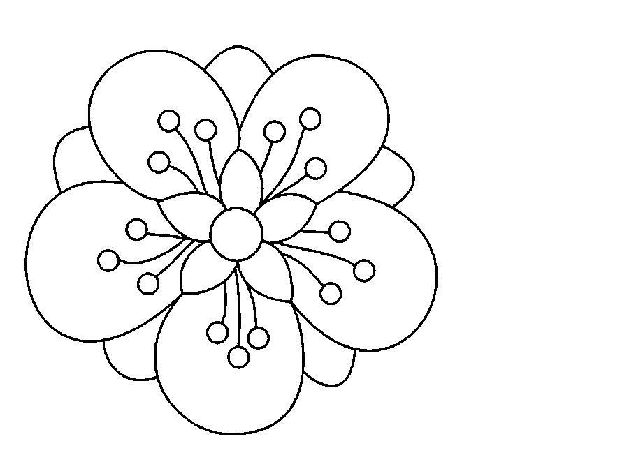 Трафарет колокольчики цветы   картинки (1)