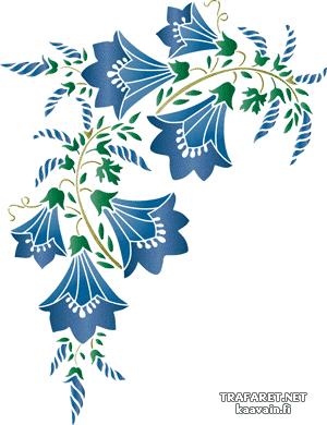 Трафарет колокольчики цветы - картинки (15)