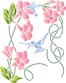 Трафарет колокольчики цветы - картинки (19)