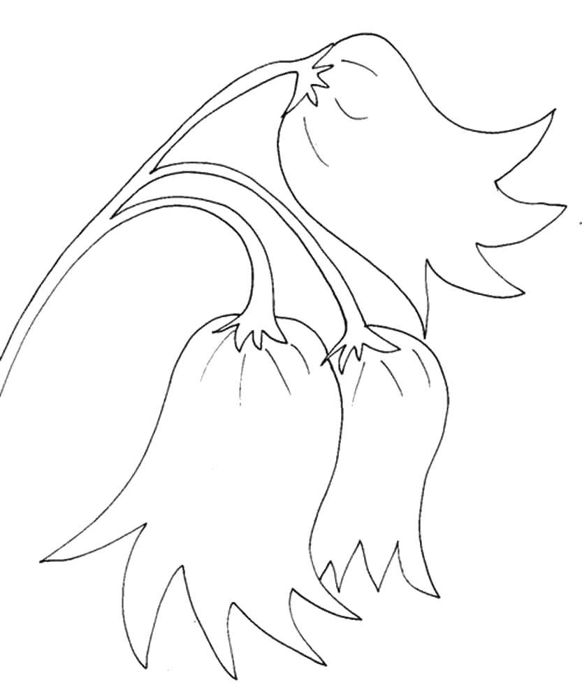 Трафарет колокольчики цветы - картинки (2)