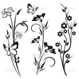 Трафарет колокольчики цветы - картинки (22)