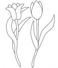 Трафарет колокольчики цветы - картинки (30)