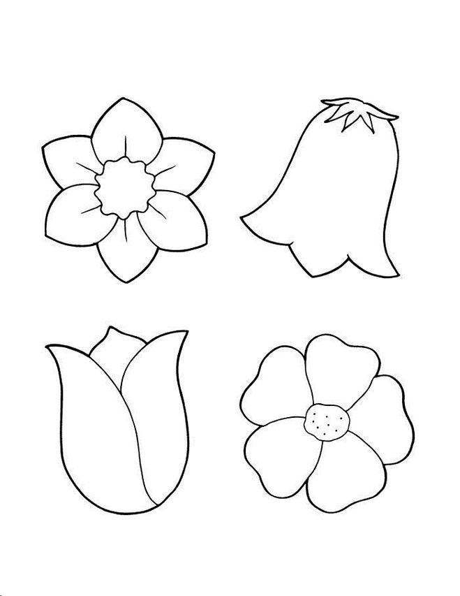 Трафарет колокольчики цветы - картинки (9)