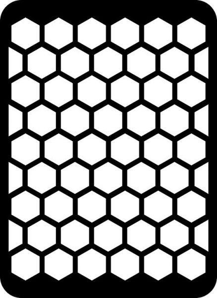 Трафарет пчелиные соты - подборка 20 фото (1)