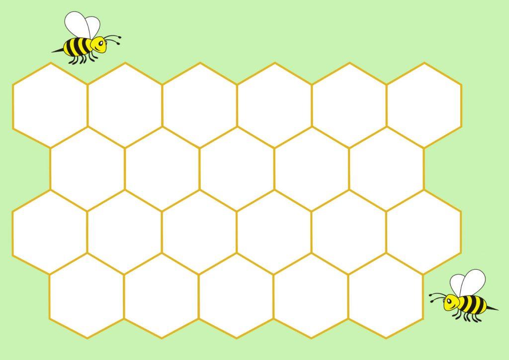 Трафарет пчелиные соты - подборка 20 фото (13)