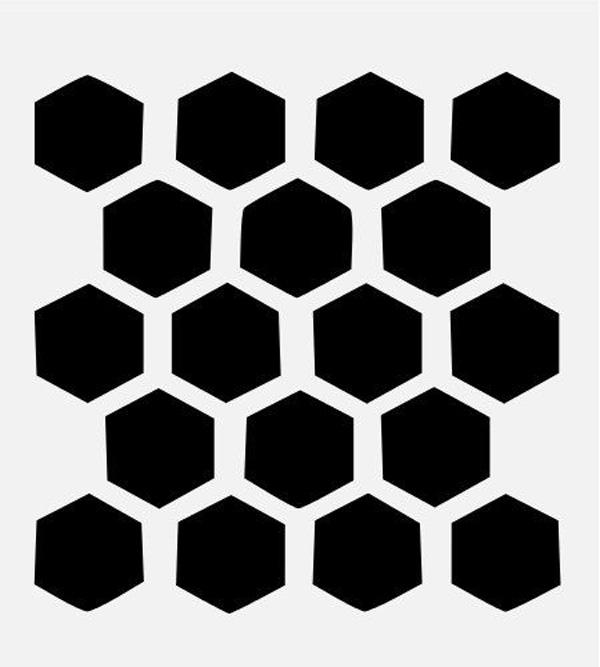 Трафарет пчелиные соты - подборка 20 фото (3)