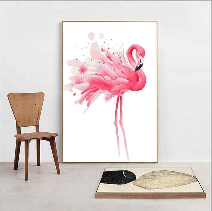 Удивительные картины фламинго маслом020