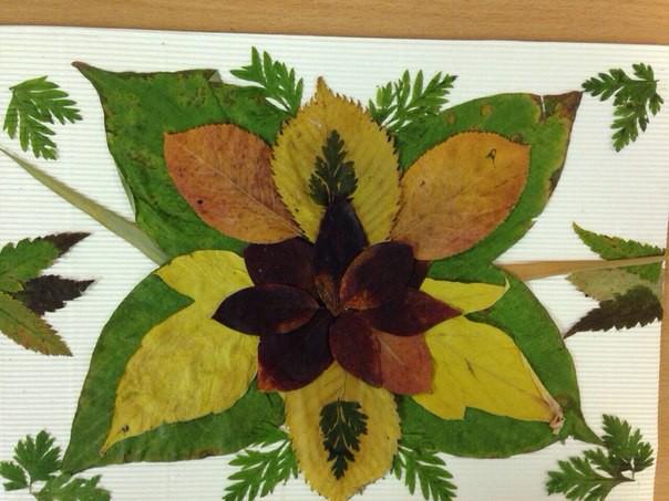 Удивительные коллажи из осенних листьев (10)
