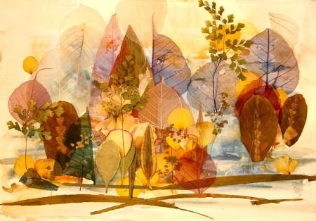 Удивительные коллажи из осенних листьев (12)