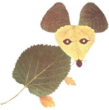 Удивительные коллажи из осенних листьев (14)