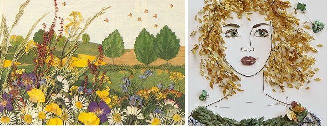 Удивительные коллажи из осенних листьев (15)