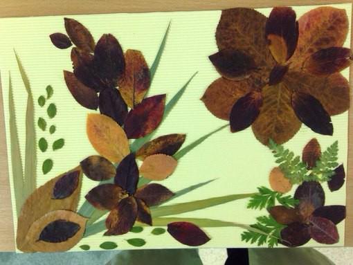 Удивительные коллажи из осенних листьев (19)