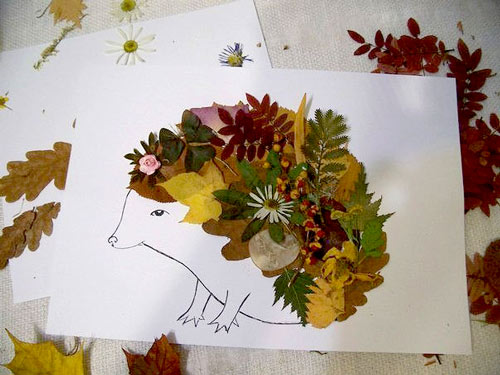 Удивительные коллажи из осенних листьев (21)