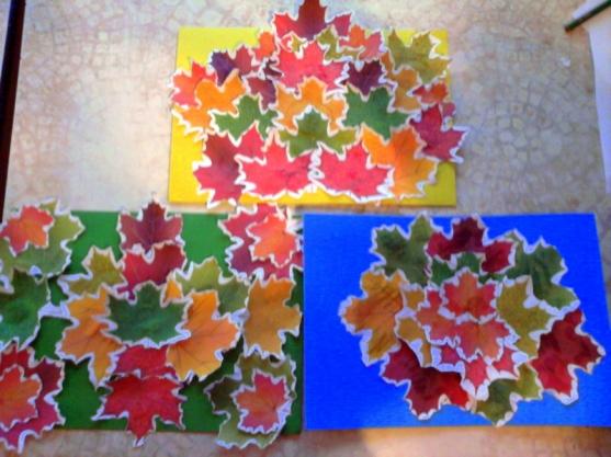 Удивительные коллажи из осенних листьев (29)