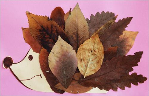 Удивительные коллажи из осенних листьев (30)