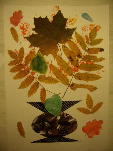 Удивительные коллажи из осенних листьев (31)