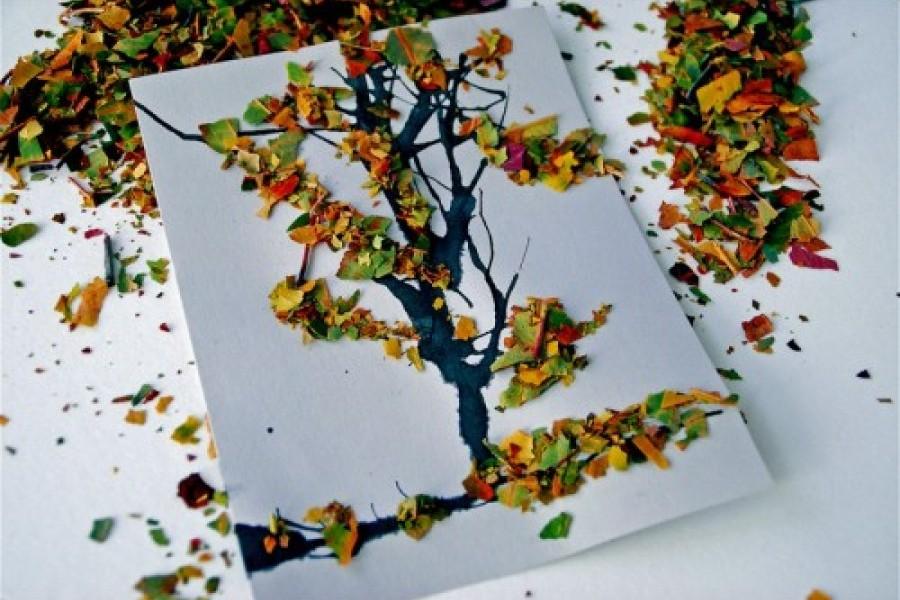 Удивительные коллажи из осенних листьев (33)