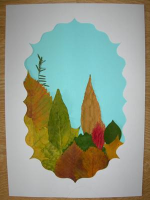 Удивительные коллажи из осенних листьев (4)