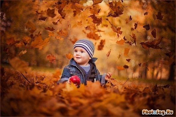 Фотосессия в осеннем лесу идеи с ребенком012