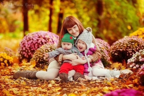 Фотосессия в осеннем лесу идеи с ребенком016