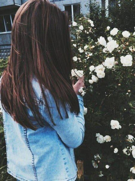 Фото девушек с темными волосами на аву без лица003