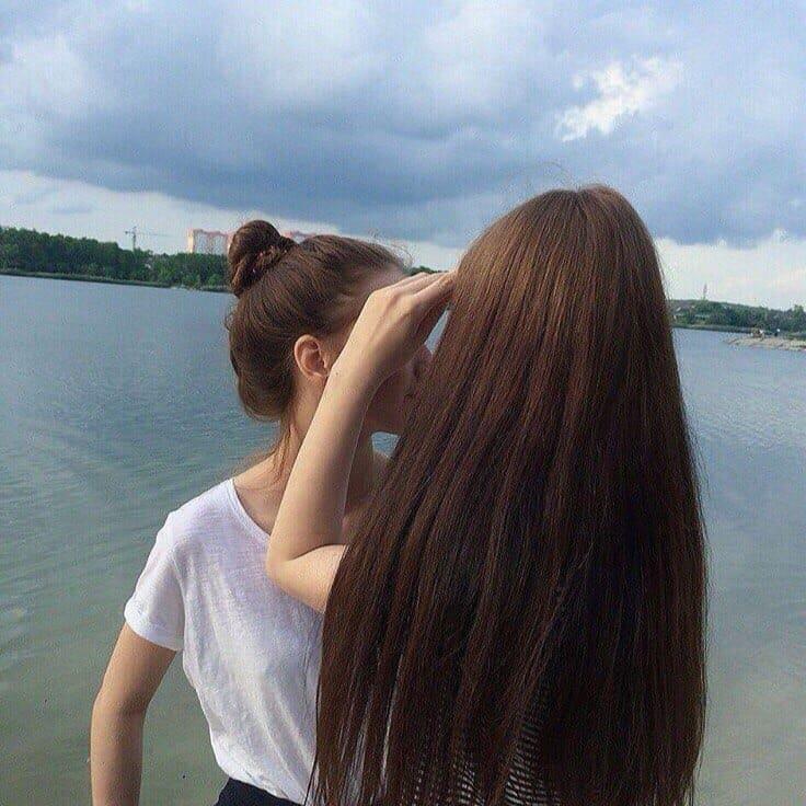 Фото девушек с темными волосами на аву без лица010