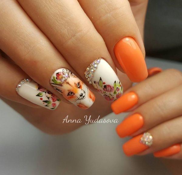 Фото идеи ногти животные дизайн001