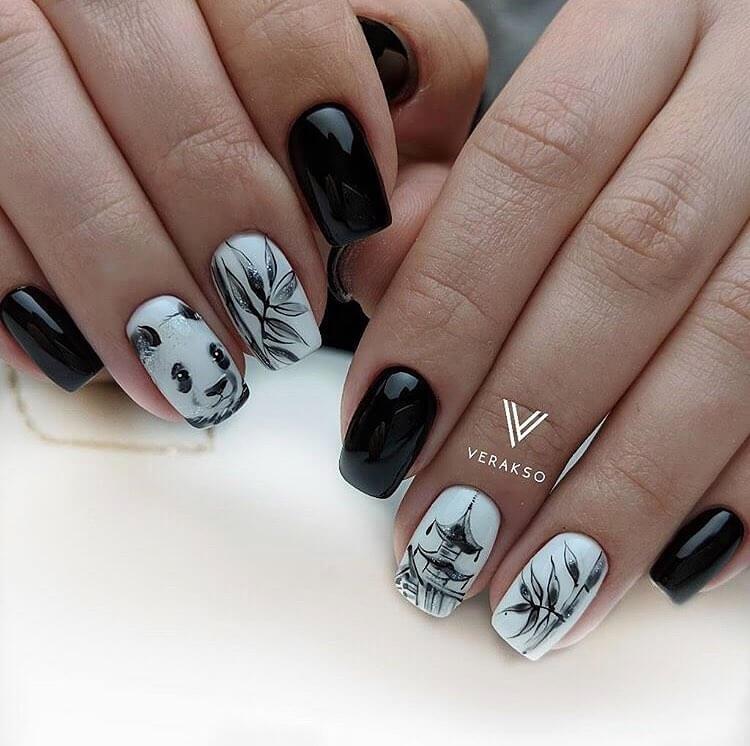 Фото идеи ногти животные дизайн002