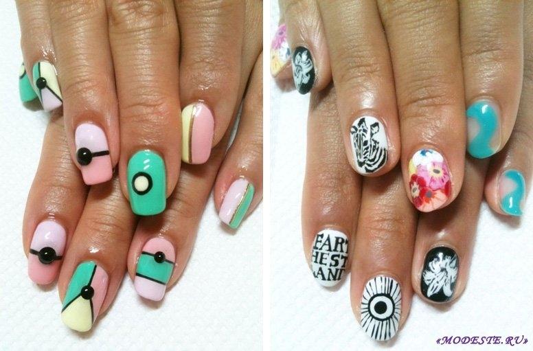 Фото идеи ногти животные дизайн005