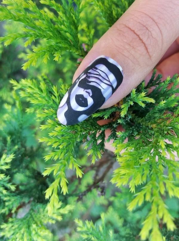 Фото идеи ногти животные дизайн007