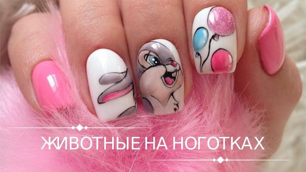 Фото идеи ногти животные дизайн008