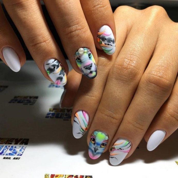 Фото идеи ногти животные дизайн012