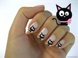 Фото идеи ногти животные дизайн013