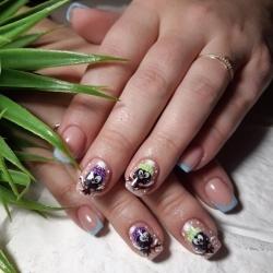 Фото идеи ногти животные дизайн014