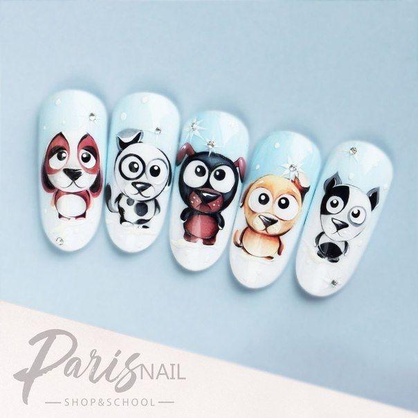 Фото идеи ногти животные дизайн017
