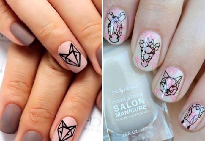 Фото идеи ногти животные дизайн019