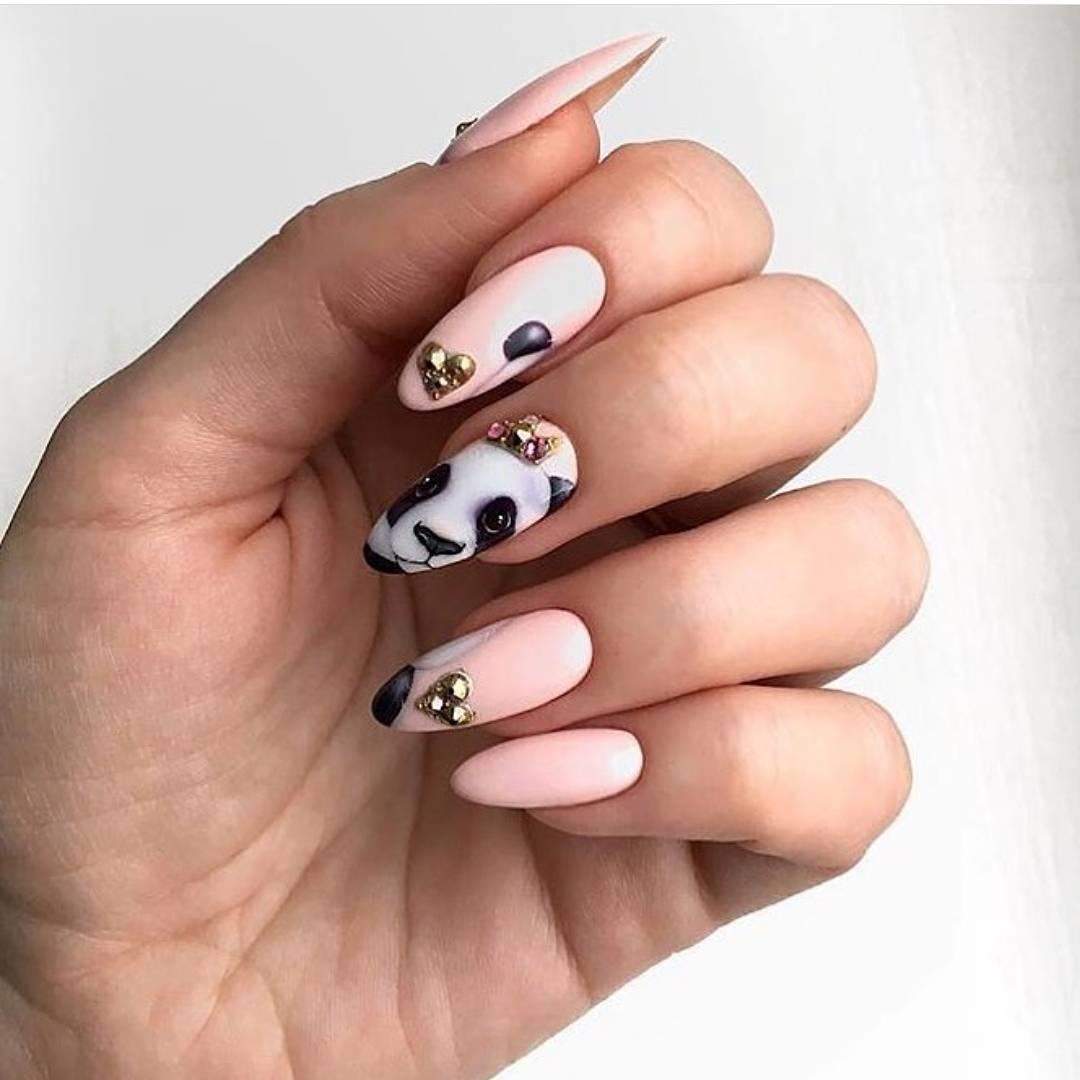 Фото идеи ногти животные дизайн020