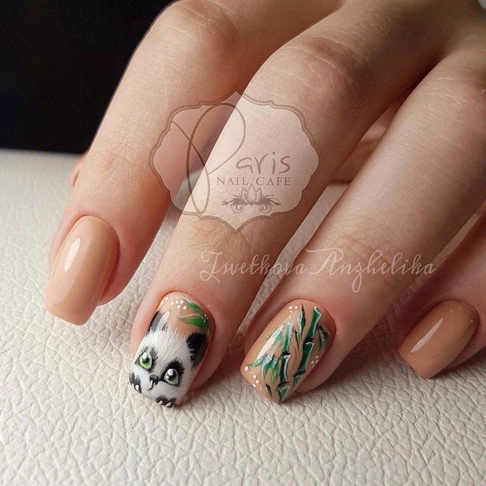 Фото идеи ногти животные дизайн021