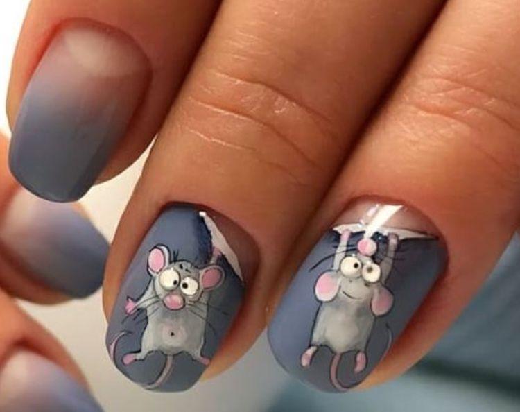 Фото идеи ногти животные дизайн022