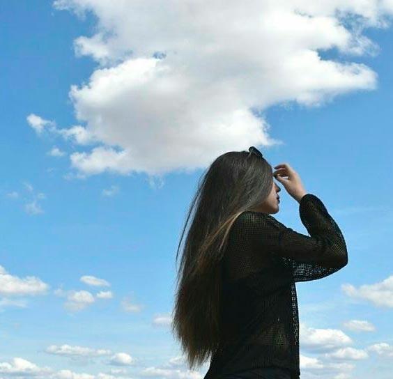 Фото красивых девушек на аву брюнеток со спины008