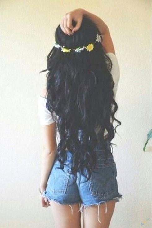 Фото на аву брюнеток с длинными волосами со спины (2)