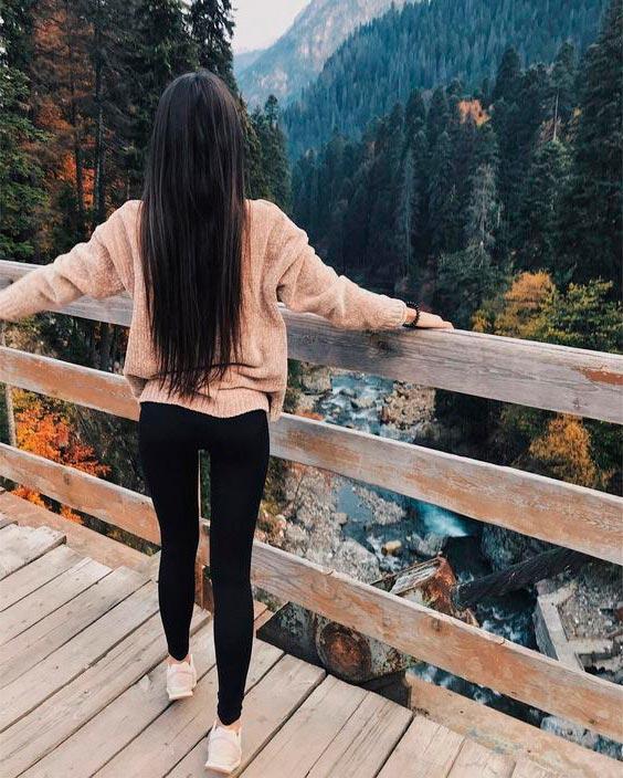 Фото на аву брюнеток с длинными волосами со спины (20)