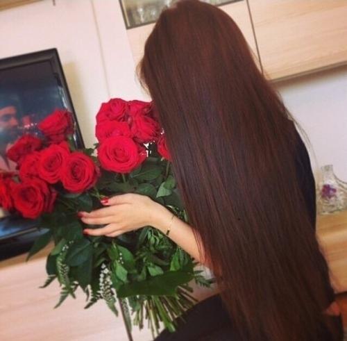 Фото на аву брюнеток с длинными волосами со спины (27)